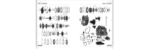 AISIN Warner AW TF60SN 09G 09M 09K Automatic Transmission Spare Parts