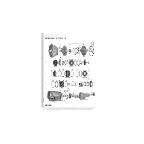 RE4R01A RE5R01A Exploded view spare part catalog PDF