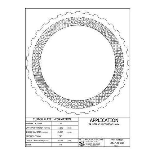 6DCT450 MPS6 Clutch Friction Lined Plate External Teeth...
