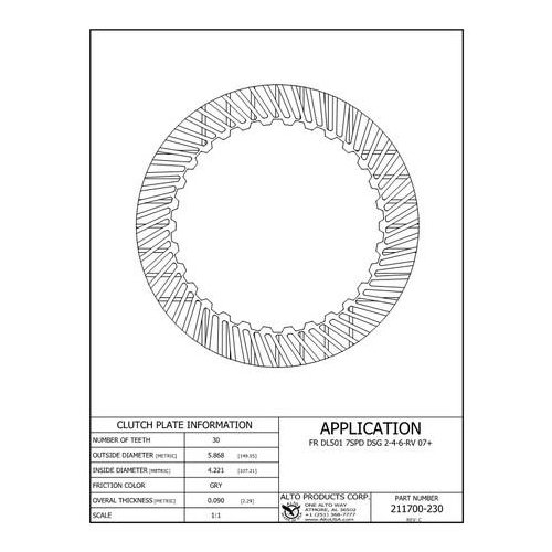 0B5 DL501 Friction 2-4-6-Reverse 09-up