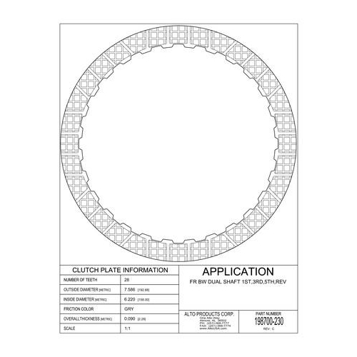02E DQ250 Friction Clutch Plate 1-3-5-Reverse 03-up