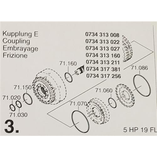 ZF5HP19 FL Subkit Number 3 from Overhaul Kit 1995-up