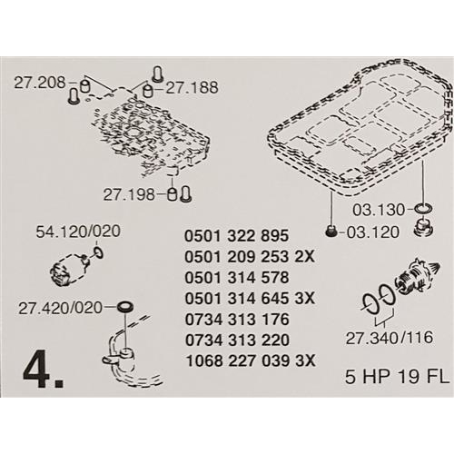 ZF5HP19 FL Subkit Number 4 from Overhaul Kit 1995-up