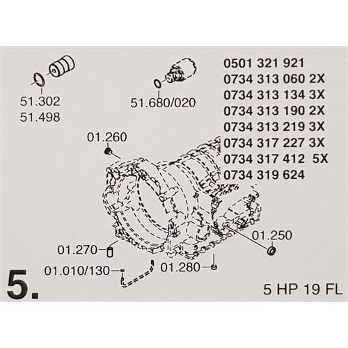 ZF5HP19 FL Subkit Number 5 from Overhaul Kit 1995-up