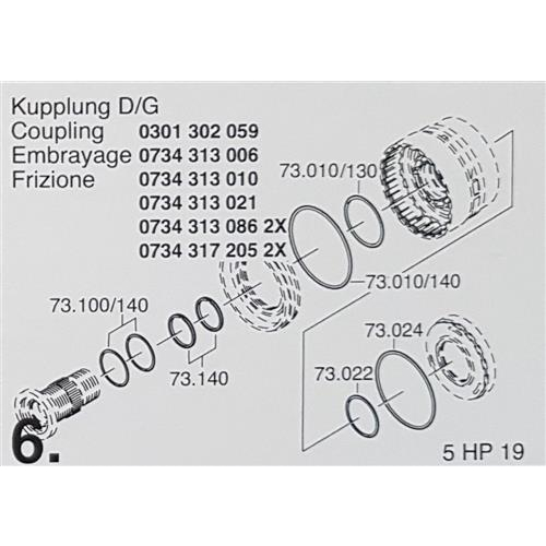 ZF5HP19 Subkit Number 6 from Overhaul Kit 1995-up