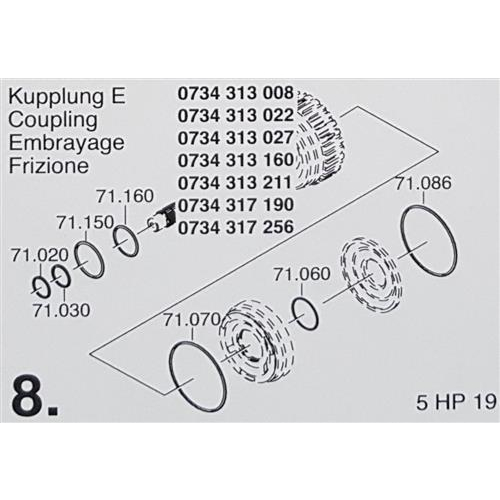 ZF5HP19 Subkit Number 8 from Overhaul Kit 1995-up