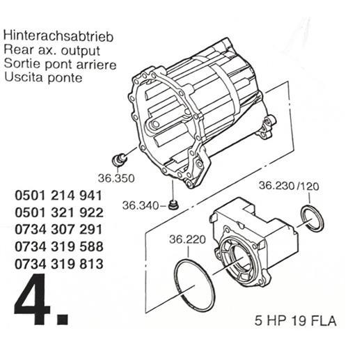 ZF5HP19 FLA Subkit Number 3 from Overhaul Kit 1995-up