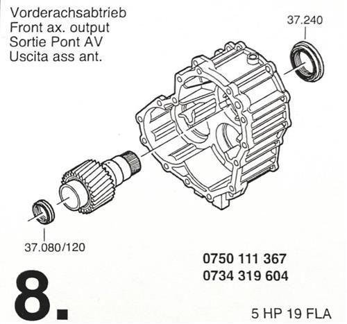 ZF5HP19 FLA Subkit Nummer 8 in Überholsatz Dichtung...