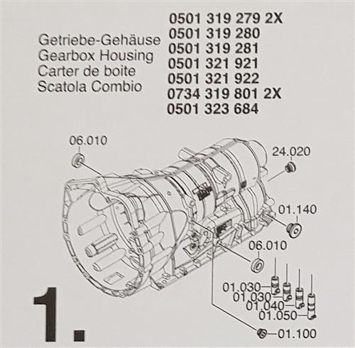 ZF6HP19 ZF6HP21 X Subkit Nummer 1 aus Überholsatz...
