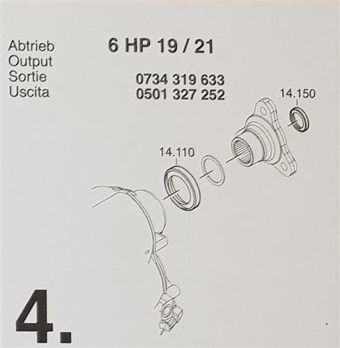 ZF6HP19 ZF6HP21 X Subkit Nummer 4 aus Überholsatz...