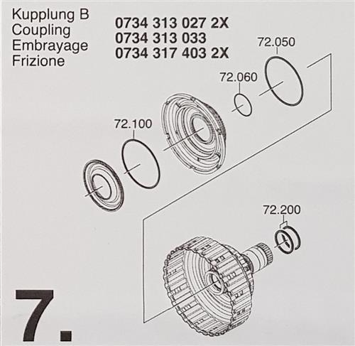 ZF6HP19 ZF6HP21 X Subkit Nummer 7 aus Überholsatz...