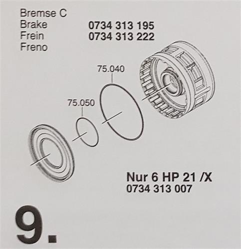 ZF6HP19 ZF6HP21 X Subkit Nummer 9 aus Überholsatz Dichtung Satz BMW 1071298007