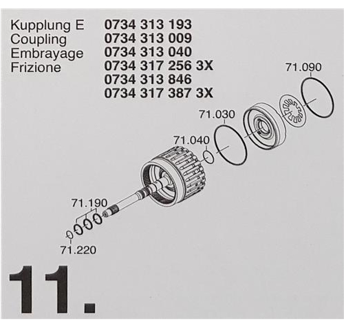 ZF6HP19 ZF6HP21 X Subkit Nummer 11 aus Überholsatz...