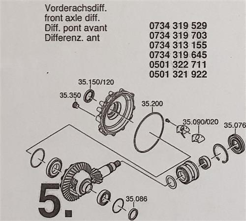 ZF6HP19 A Subkit Nummer 5 aus Überholsatz Dichtung...