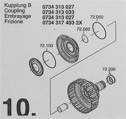 ZF6HP19 A Subkit Nummer 10 aus Überholsatz Dichtung...