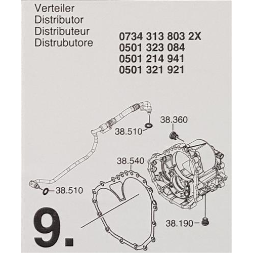 ZF6HP26 A Subkit Number 9 from Overhaul Kit 1068298052