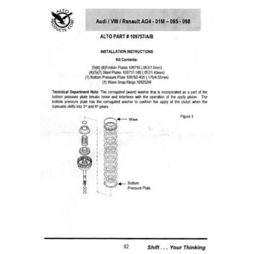 01P Lamellenkupplung Endlamelle Reparatursatz K3 Kupplung ab 1996