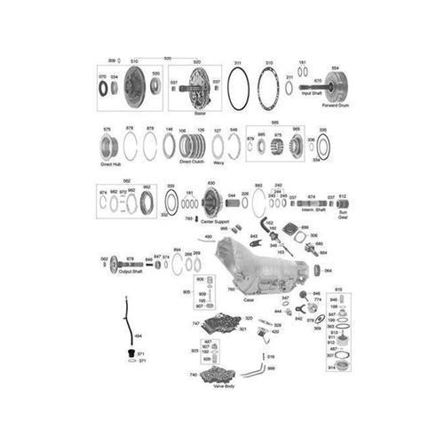 GM TH400 Explosionszeichnung Ersatzteil Katalog PDF