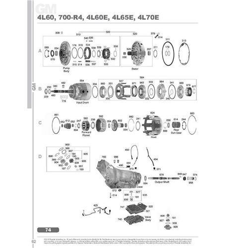 GM TH700 4L60E 4L65E 4L70E Exploded view spare part...