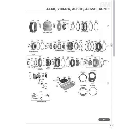 GM TH700 4L60E 4L65E 4L70E Explosionszeichnung Ersatzteil Katalog PDF