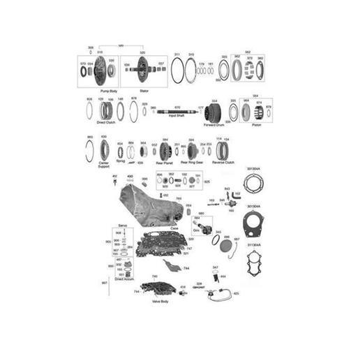 GM TH250 TH350 Exploded view spare part catalog PDF