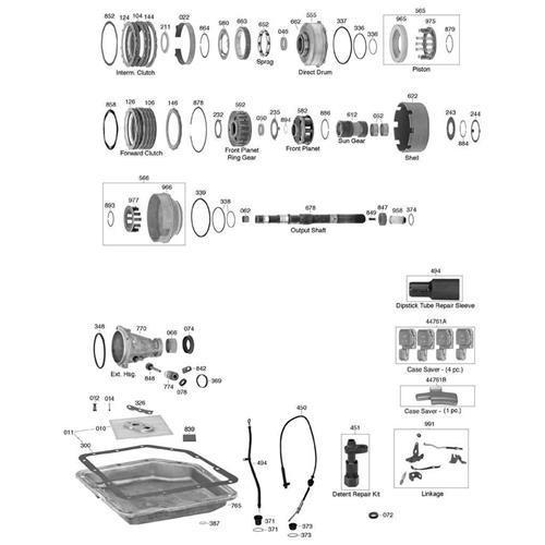GM TH250 TH350 Explosionszeichnung Ersatzteil Katalog PDF