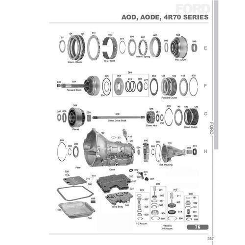 Ford AOD AOD-E 4R70W Explosionszeichnung Ersatzteil Katalog PDF