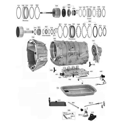 GM 4L40E 5L40E 5L50E Explosionszeichnung Ersatzteil Katalog PDF
