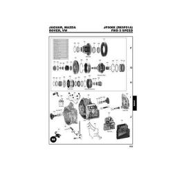 Jatco JF506E 5F31J RE5F01A VW 09A VW09B Explosionszeichnung Ersatzteil Katalog PDF