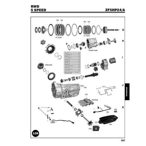 ZF5HP24 Explosionszeichnung Ersatzteil Katalog PDF
