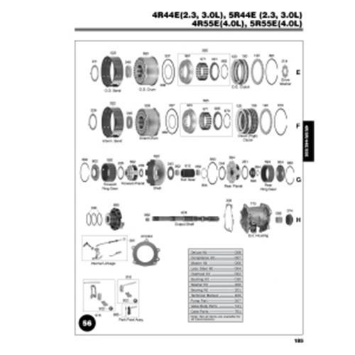 Ford 4R44E 4R55E 5R55E Explosionszeichnung Ersatzteil Katalog PDF