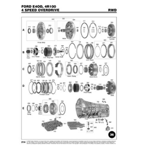 Ford E4OD 4R100 Explosionszeichnung Ersatzteil Katalog PDF