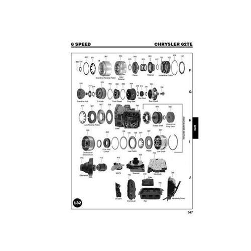 Chrysler 62TE Exploded view spare part catalog PDF