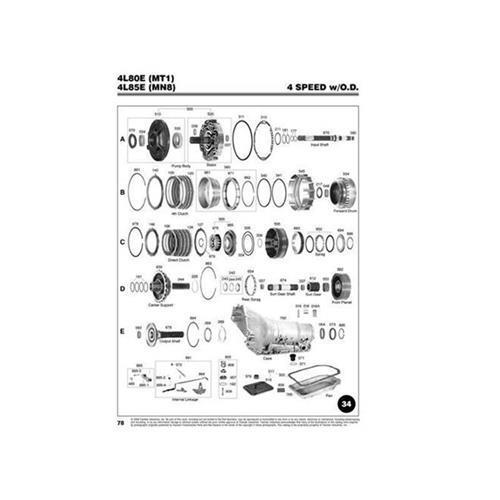 GM 4L80E Explosionszeichnung Ersatzteil Katalog PDF