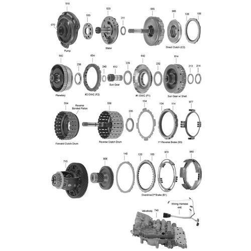 AW80 81-40LE U440E Exploded view spare part catalog PDF