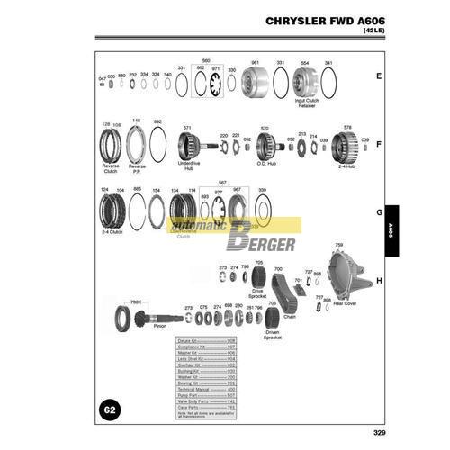 a606 transmission repair manual