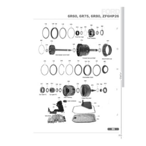 Ford 6R60 6R75 6R80 ZF6HP26 ZF6HP28 Explosionszeichnung Ersatzteil Katalog PDF
