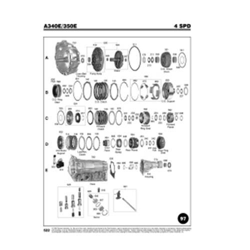 Chrysler Jeep AW4 Toyota A340E Exploded view spare part...