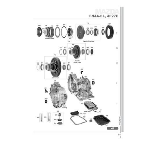 Ford 4F27E FNR5 Mazda FN4A-EL FS5A-EL Explosionszeichnung Ersatzteil Katalog PDF