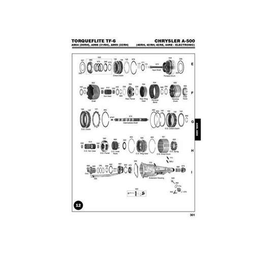 Chrysler A500 40RH 42RH 42RE 44RE Exploded view spare...