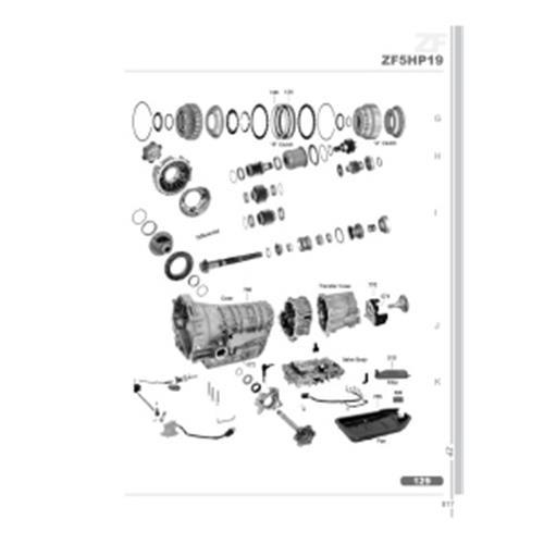 ZF5HP19 FL FLA FLE BMW Audi VW Porsche Explosionszeichnung Ersatzteil Katalog PDF