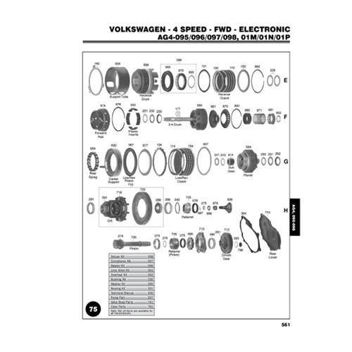VW Audi Ford AG4 095 096 097 098 01M 01N 01P Exploded view spare part catalog PDF