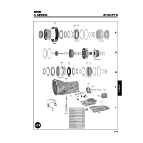 ZF5HP18 Explosionszeichnung Ersatzteil Katalog PDF