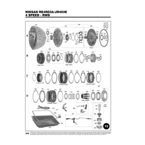 Nissan RE4R03A JF403E Exploded view spare part catalog PDF