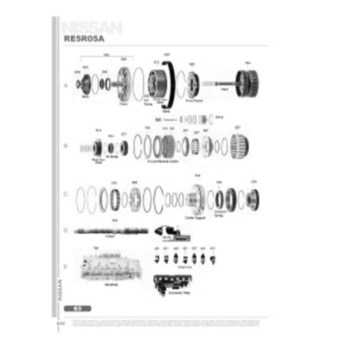 Nissan RE5R05A Exploded view spare part catalog PDF