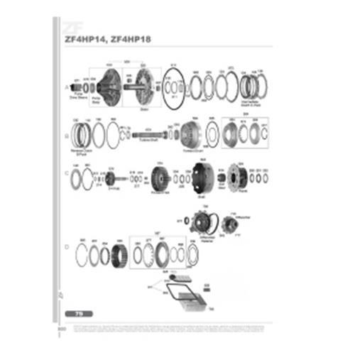 ZF4HP14 ZF4HP18 Explosionszeichnung Ersatzteil Katalog PDF
