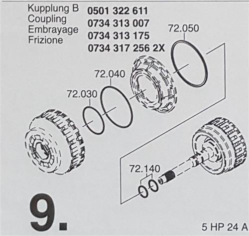 ZF Getriebe Dichtring Teflon