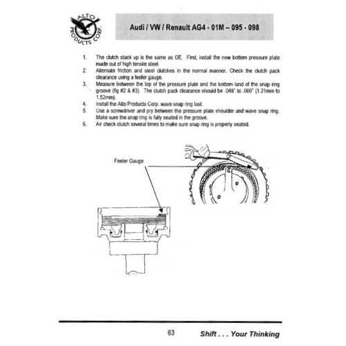 01M 01N Lamellenkupplung Endlamelle Reparatursatz K3 Kupplung