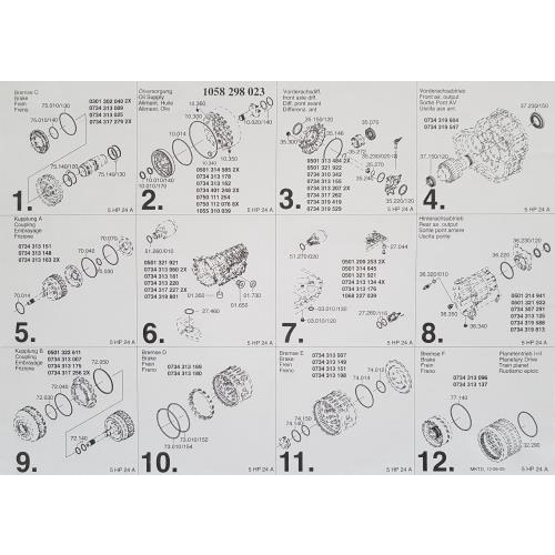 ZF5HP24 A Overhaul Kit 97-up 4WD OEM
