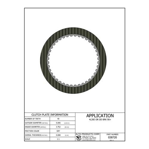 4L30E AR25 AR35 Clutch Plate Friction Plate Lined Plate...